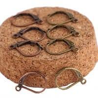Shukaki 50 pcs 11x15 milímetros alavanca para trás achados brinco de cobre de bronze antigo diy orelha ganchos de arame para a jóia fazendo