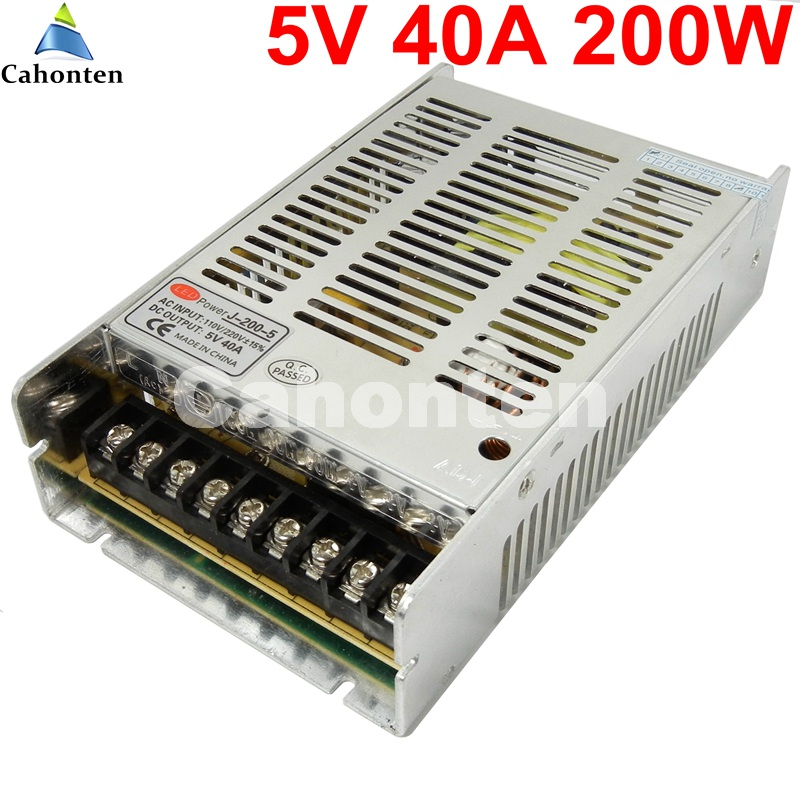 ultra slim 5V 40A 200W Universal Regulated Switching Power Supply 110V/220V AC to DC DC5V led driver For LED Strip Light Display parkcity ultra slim 420 110