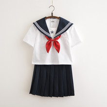 Японская школьная форма Jk для девочек, с вышивкой, с коротким рукавом, для средней школы, для женщин, новинка, матросские Костюмы униформы, косплей, наборы Xxl