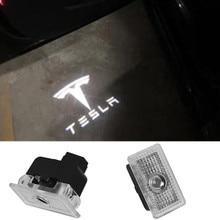 2X Car Door Welcome Light LED Projector Laser Logo For Tesla MODEL 3 S X