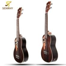 "Senrhy 21"" 23"" Acoustic 4 Strings Concert Ukulele Uke Rosewood Electric Bass Guitarra Guitar for Musical Stringed Instruments"