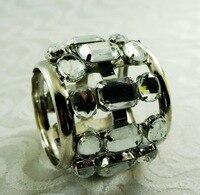 crystal decoration napkin ring, metal napkin holder for wedding with 12 pcs