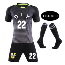 b1a6222c4 Football Socks free Kids Football jerseys 18 19 children jerseys Blank Soccer  Training Suit Custom