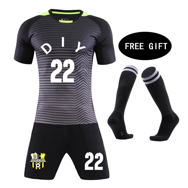 1e2a18b10 Football Socks free Kids Football jerseys 18 19 children jerseys Blank  Soccer Training Suit Custom Men child Futbol Uniforms set