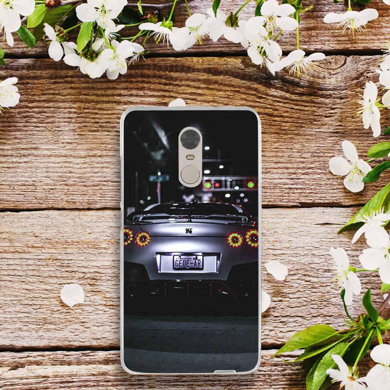 Macio TPU Casos de Telefone para Xiao mi mi mi Vermelho Nota 2 3 3 S 4X 4A 6 5 5S 5A 6 8 A1 Pro Plus Shell 2018 GT R Esportes Carro de Estrada Velocidade