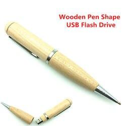 Натуральные деревянные ручки Форма USB Flash Drive внешних накопителей USB 2.0 Flash Memory Stick подарок флешки 64 ГБ 32 ГБ 16 ГБ 8 ГБ 4 ГБ подарок