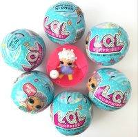 6Pcs 9cm LOL Surprise Doll Surprise Inside Series 2 Ball For Kids Home Display