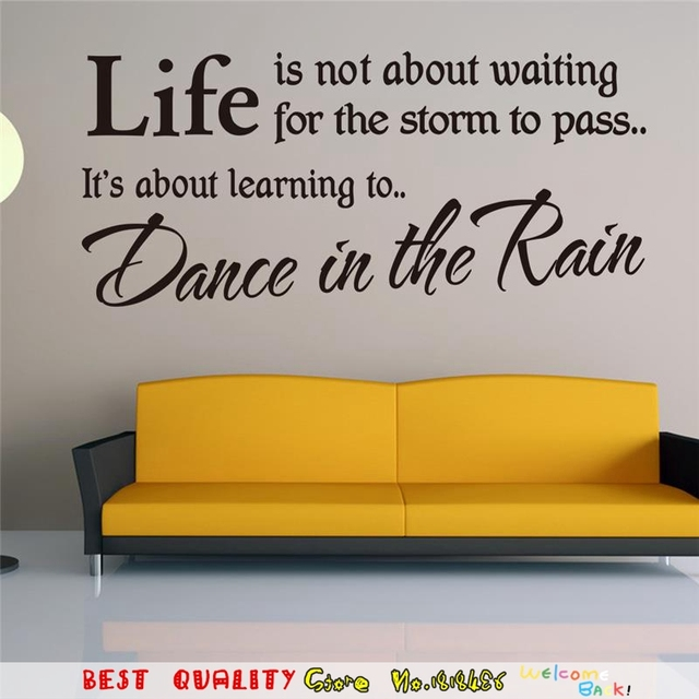Fashion Inspired Words Designs Life Inspirational Quotes Wall ...