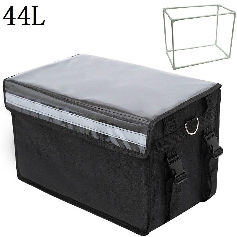 44l extra grande saco refrigerador de gelo do carro pacote isolado térmico almoço pizza saco de entrega de alimentos frescos recipiente refrigerador saco nb24