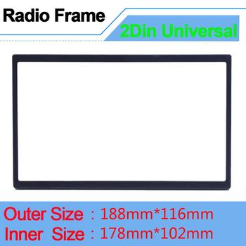 Universal Radio Frame for 2 din Radio Fascias Multimedia Player Double Din Auto Accessories for 7'' Autoradio Stereo Frame Doble image