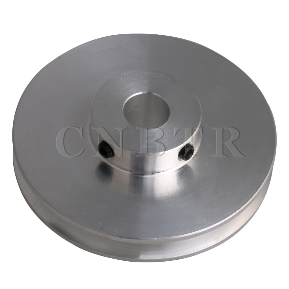 CNBTR 58x16MM Silver Aluminum Alloy Single Groove Fixed Bore Pulley for Motor Shaft 3-5MM PU Round Belts CNBTR 58x16MM Silver Aluminum Alloy Single Groove Fixed Bore Pulley for Motor Shaft 3-5MM PU Round Belts