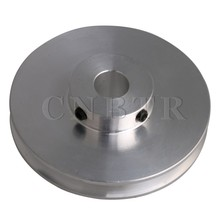 CNBTR 58x16MM Silver Aluminum Alloy Single Groove Fixed Bore Pulley for Motor Shaft 3-5MM PU Round Belts cnbtr 13 5x10x3cm black metal