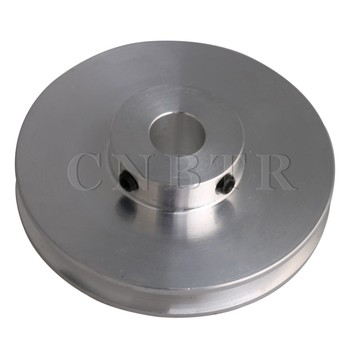 CNBTR 58x16MM Silver Aluminum Alloy Single Groove Fixed Bore Pulley for Motor Shaft 3-5MM PU Round Belts aluminum collet prop shaft adapter for 3 17mm motor shaft silver 5 piece pack