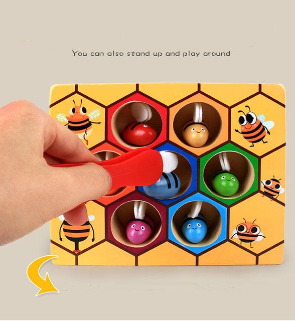 Juguete educativo Montessori «la colmena»
