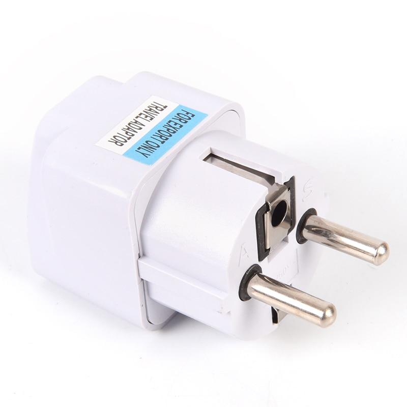 1X Universal UK to EU Europe AC Power Travel Adapter Converter Wall Plug Socket