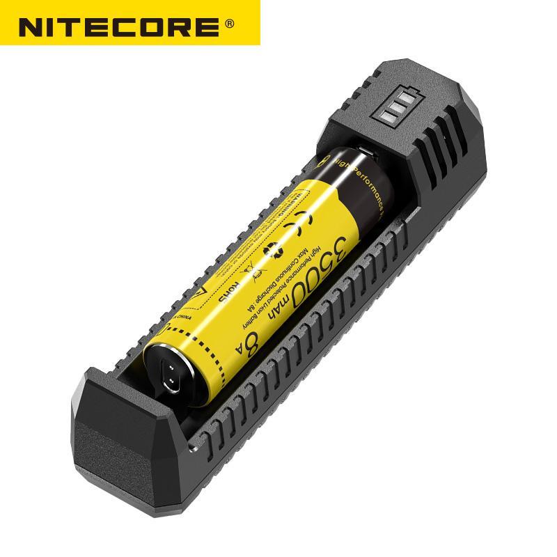NITECORE UI1 แบบพกพา USB แบตเตอรี่ Li - Ion Charger ใช้งานร่วมกับ 18650 16340 14500 แบตเตอรี่