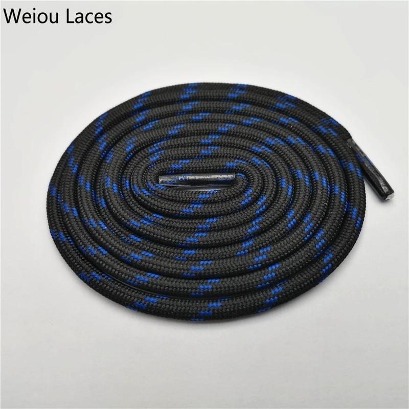 Weiou Уличная обувь с круглым канатом для пеших прогулок, шнурки, износостойкие кроссовки, шнурки для ботинок, шнурки для мужчин и женщин, спортивные шнурки - Цвет: 2503Black Blue