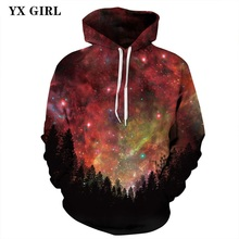 New Fashion 3D Print Galaxy Hoodie Pocket Hooded Sweatshirts Women Men Colorful Harajuku Hoodies Autumn Tracksuits Women Tops
