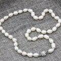 2 стиль черный белый природный 8-9 мм райс форма перл пресной воды культивированный бисер ожерелье для женщин подарки цепи колье 18 inch B3237