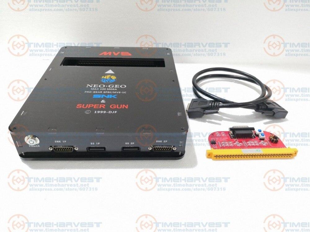 Nouvelle VERSION 2 en 1 CBOX MVS SNK NEOGEO CMVS + JAMMA SUPER GUN 2 fonction pour jouer la cartouche de jeu avec SNK Joypad ou SS joypad