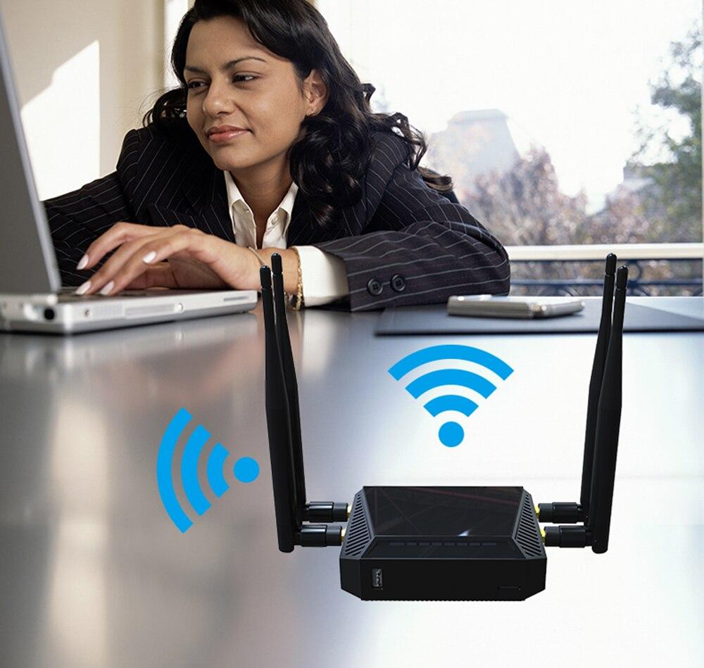 Routeur 3G 4G WiFi Modem avec emplacement pour carte SIM 128 mo de mémoire 300 Mbps 12 V LTE OpenWrt sans fil USB WiFi routeur réseau SMA connecteur - 2