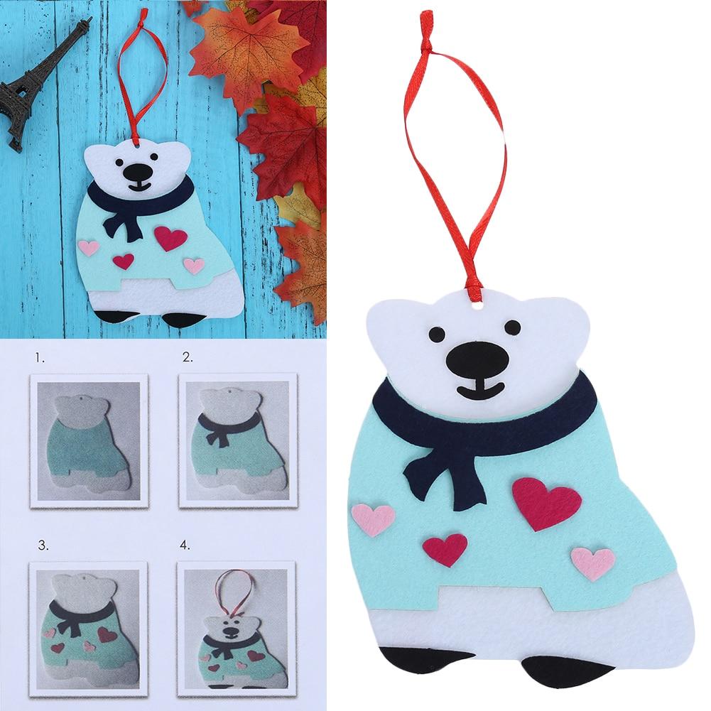 1pc Christmas tree ornament handmade diy coaster children puzzle ...