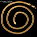 (480*5mm )Fashion Snake Necklace Jewelry for Men18k Gold Plated High Quality