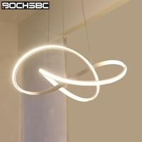 BOCHSBC современный книги светодио дный по искусству LED открытый подвесные светильники алюминий сплав акрил абажур подвесной светильник освет