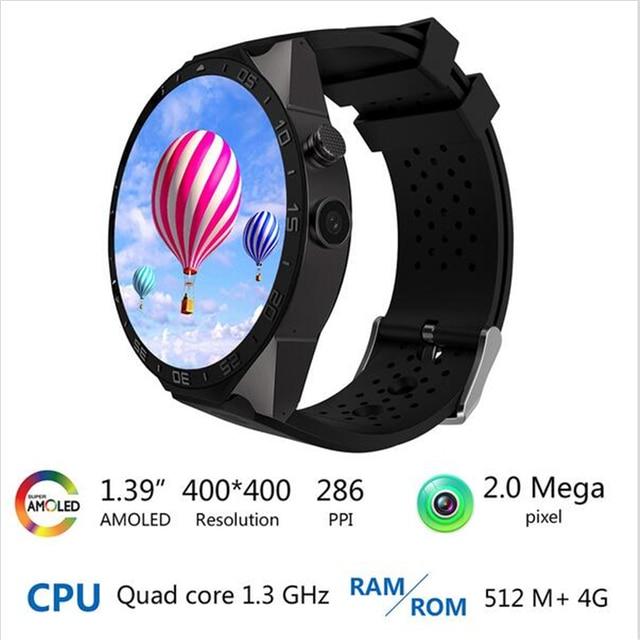 VIWEL kw88 Android 5.1 Smart Watch 512 + 4 ГБ Bluetooth 4.0 WIFI 3 Г Телефон Smartwatch Наручные Поддержка Google Voice GPS карта