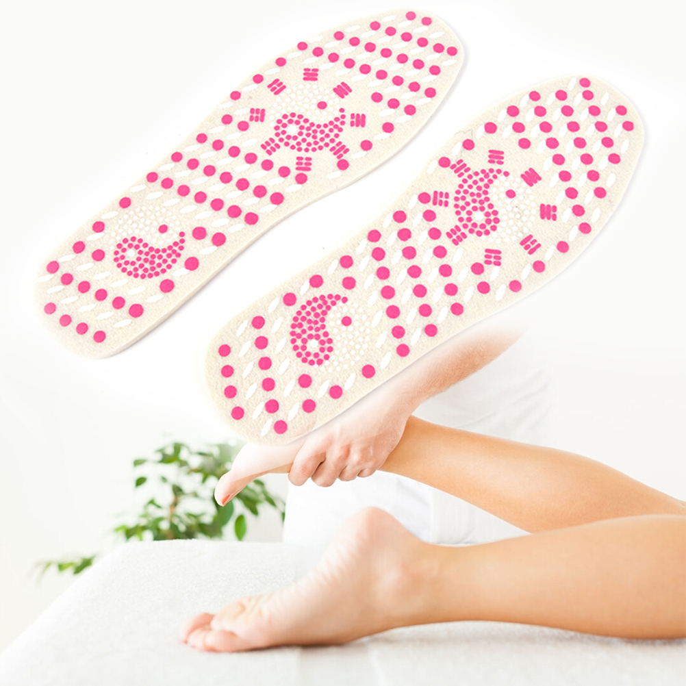 1PC Self-heating Pads Sweat Absorb Cotton Insoles Shoes Foot Massage Isolated Infrared Patches For Men Women