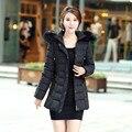 6XL Plus Size Mulheres Casaco de Inverno Gola de Pele Com Capuz Jaqueta de Algodão Acolchoado Casacos Feminino Ucrânia Jaqueta Parkas Manteau Femme C2586