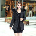 Plus Size 6XL Winter Coat Women Hooded Fur Collar Padded Cotton Jacket Coats Female Ukraine Jacket Parkas Manteau Femme C2586