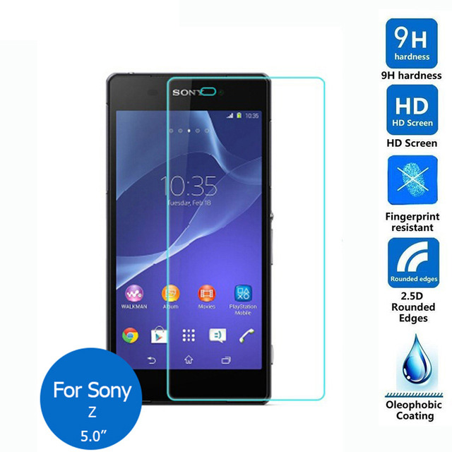 For <font><b>Sony</b></font> <font><b>Xperia</b></font> <font><b>Z</b></font> Tempered <font><b>Glass</b></font> <font><b>Screen</b></font> Protector 0.26mm 2.5 9h Safety Protective Film on C6602 <font><b>C6603</b></font> C6606 C6616 SO-02E image