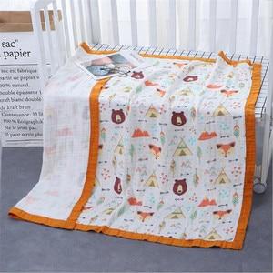 Image 5 - 29 conceptions 4 et 6 couches doux mousseline bambou coton enfants enfants lit couverture nouveau né dormir recevoir bébé couverture Swaddle