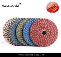 Free Shipping 4 Inch Premium Quality Angle Grinder Diamond Stone Dry Polishing Pads For Granite