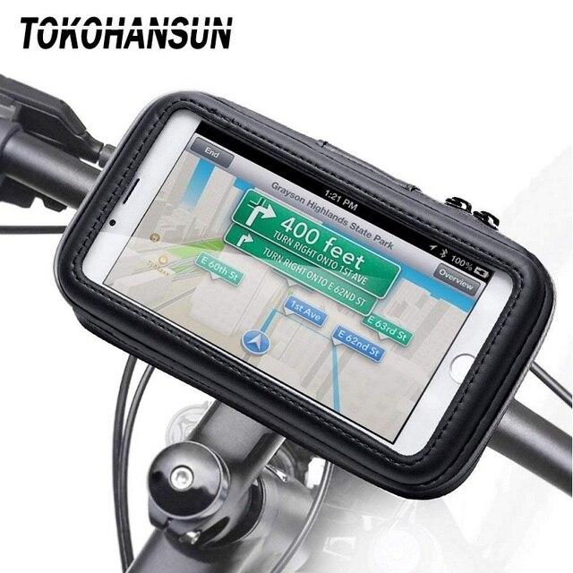 Мотоциклетный держатель для телефона Samsung Galaxy S8 S9 S10 для iPhone X 8Plus, поддержка мобильного телефона, велосипедный держатель, подставка, водонепроницаемая для мотоциклетной сумки