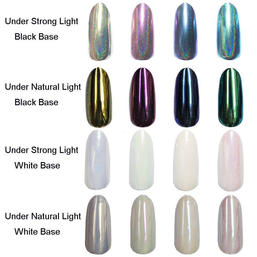 1 box laser holographic pearl powde