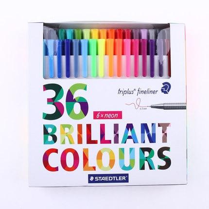 Good Quality !! STAEDTLER professional triangle fine liner,micron pen 36 color set,15 colors set 24 colors fine liner pen 35 holes pencil