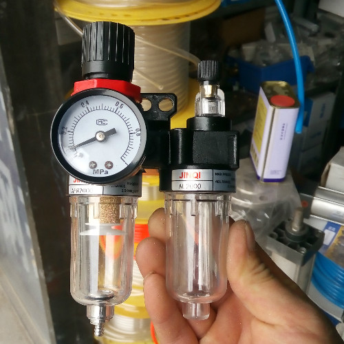 Oil water separator AFC2000 two filter pressure relief valve AFR2000+ oil mist AL2000 13mm male thread pressure relief valve for air compressor