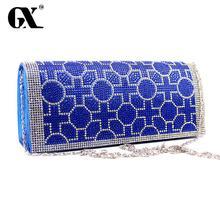 GX Mode Kristall frauen-Tag Erfasst Mit Schulter-kette Für Prom Party Luxus Marke handtaschen frauen messenger bags