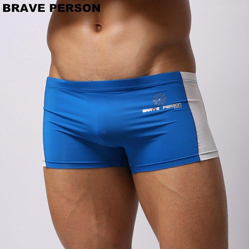 BRAVE PERSON Mens Boxer Shorts Splice Design Super Soft High Quality Underwear Men Boxers Thin Breathable Male Underpants B1005
