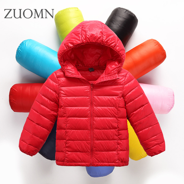Children down jacket boy girl paragraphs short hooded coats childrens clothes Warm Boys Coat Kids Down Jacket Outwear YL329