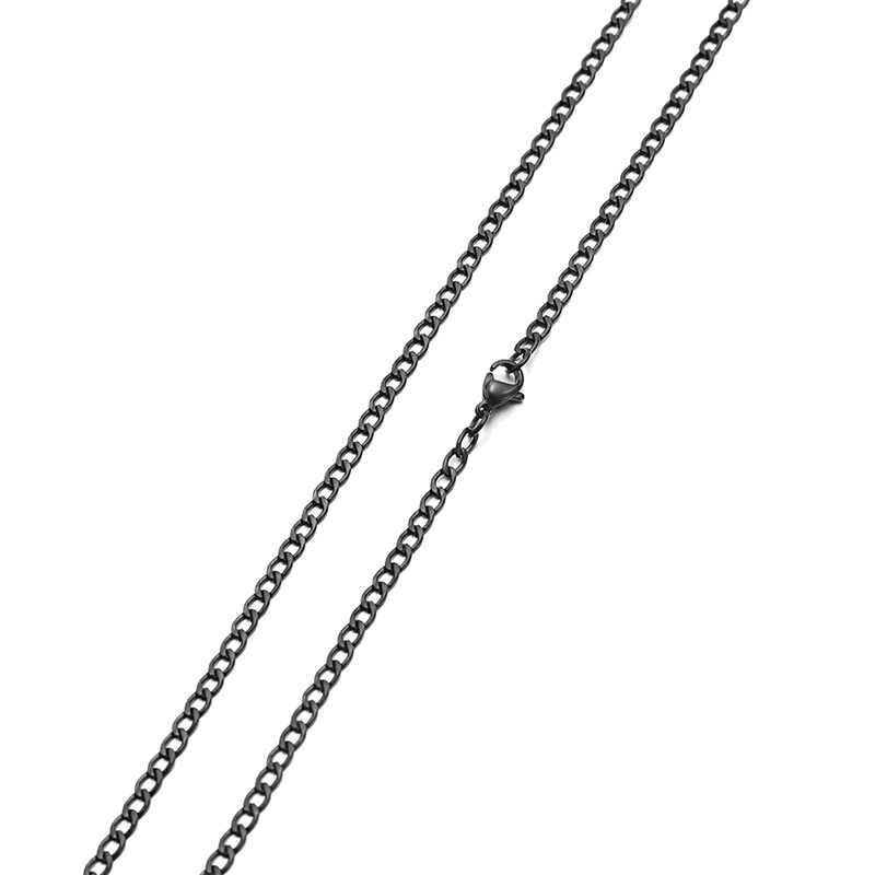 AZIZ BEKKAOUI moda złoty kolor ze stali nierdzewnej NK łańcuch naszyjnik czarny podstawowe łańcuch dla mężczyzn dla kobiet Link łańcuchy biżuteria prezent