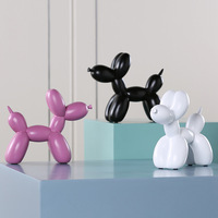 Fashion Balloon Dog Ceramic Resin Crafts Sculpture Creative Gift Modern Simple Home Decoration Statue 8 Color Decoration 1 Piece