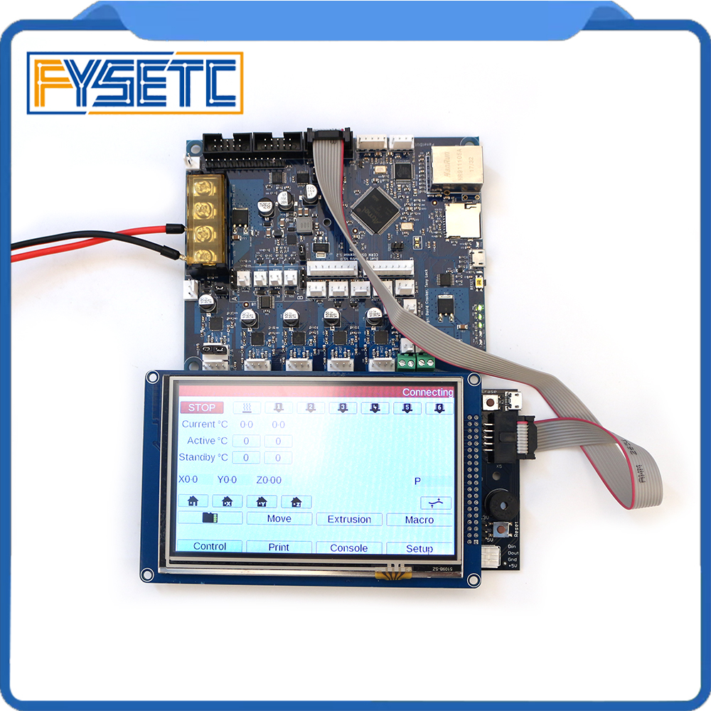 Cloned Duet 2 Maestro Advanced 32bit Motherboard With 4 3 5 7 PanelDue Touch Screen Controller