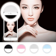 2018 New Fashion Portable Selfie LED Ring Flash Fill Light Clip Camera For Iphone Samsung Xiaomi HTC Android Smartphone