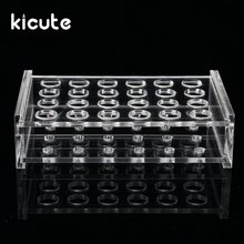 Kicute 11mm 24 Holes 1.5ml Clear Plastic Centrifugal Test Tube Test Tube Rack Holder Lab Equipment laboratory tripod metacrilato(China)