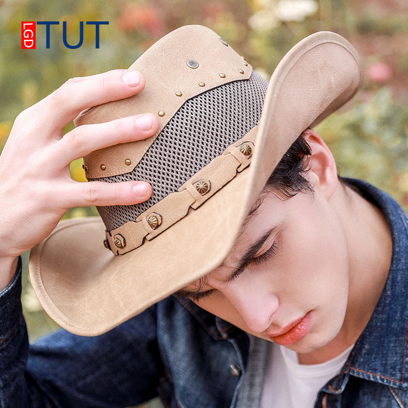 Meilleur achat ) }}Summer Outdoor Hats Spring Western Cowboy Hat Breathable
