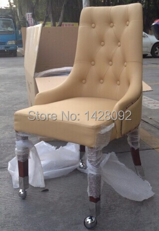 European and American style comfortable upholstered VIP hotel dining chair LQ-L8001R цена
