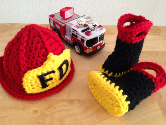 Free Shipping Baby Firefighter Fireman Red Hat Outfit Red Pant Set